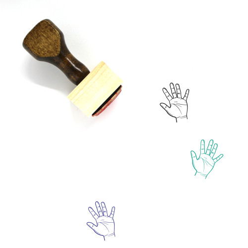 Five Wooden Rubber Stamp No. 41