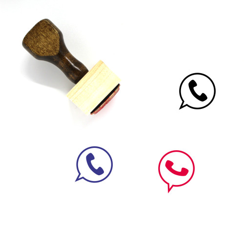 Phone Call Wooden Rubber Stamp No. 94