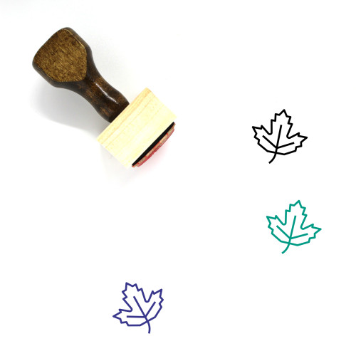 Maple Wooden Rubber Stamp No. 36