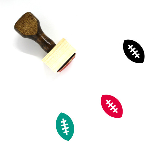 American Footbal Wooden Rubber Stamp No. 1