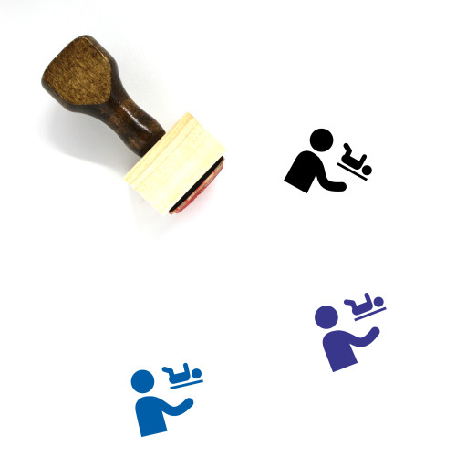 Nappy Move Wooden Rubber Stamp No. 1