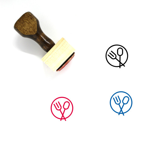 Place Setting Wooden Rubber Stamp No. 15