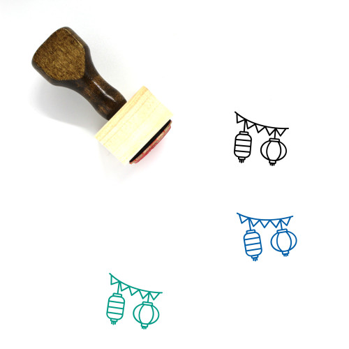 Party Wooden Rubber Stamp No. 50