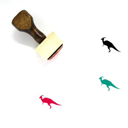 Parasaurolophus Wooden Rubber Stamp No. 1