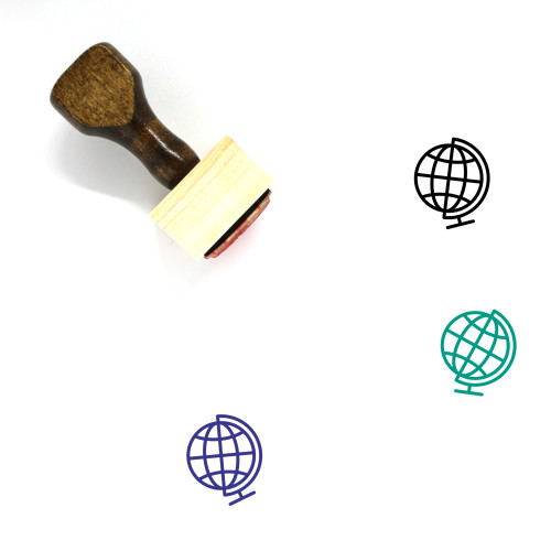 Globe Wooden Rubber Stamp No. 1313