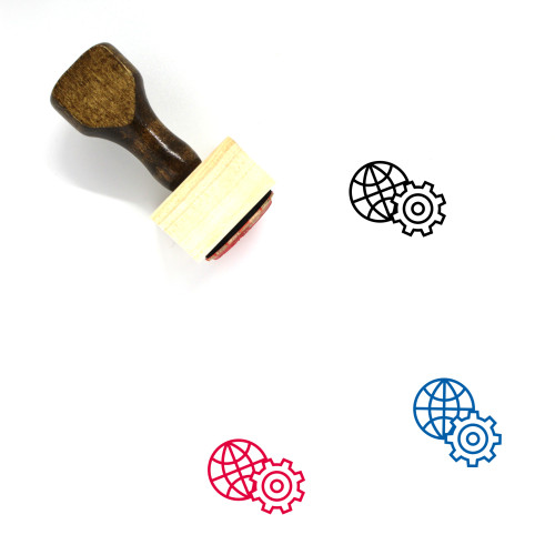 Internet Settings Wooden Rubber Stamp No. 3