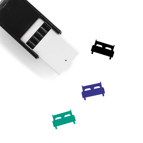 Double Bed Self-Inking Rubber Stamp No. 4