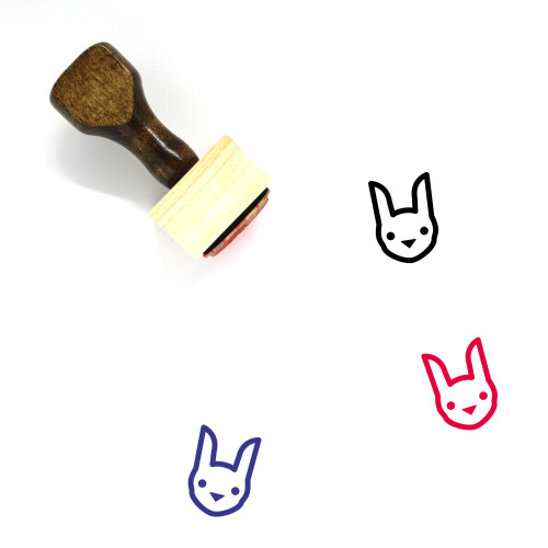 Bunny Wooden Rubber Stamp No. 118