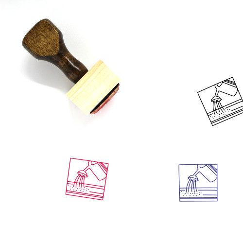 Watering Wooden Rubber Stamp No. 4