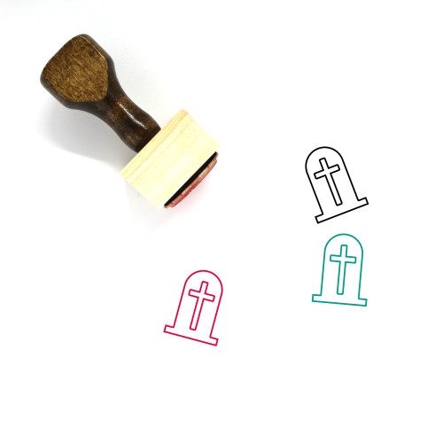 Grave Wooden Rubber Stamp No. 78