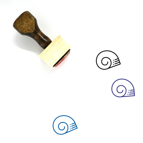 Snail Shell Wooden Rubber Stamp No. 4
