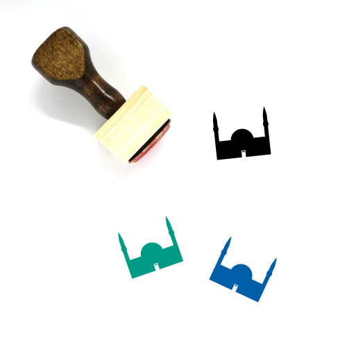 Mosque Wooden Rubber Stamp No. 305