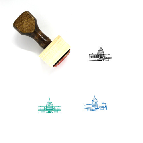 U.S. Capitol Building Wooden Rubber Stamp No. 1