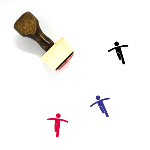 Balance Wooden Rubber Stamp No. 122