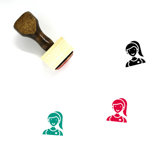 Assistant Wooden Rubber Stamp No. 2