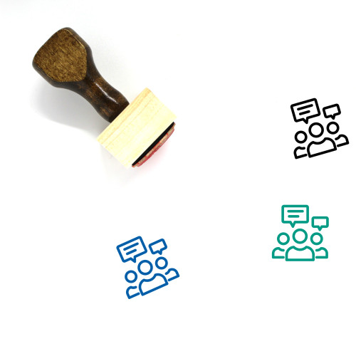 Group Discussion Wooden Rubber Stamp No. 41