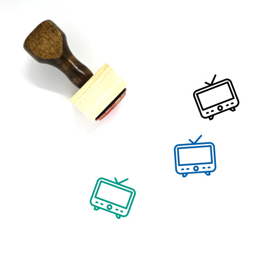 Television Wooden Rubber Stamp No. 165