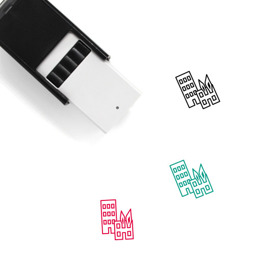 Building Fire Self-Inking Rubber Stamp No. 1