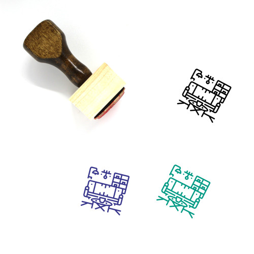 Furnished Wooden Rubber Stamp No. 2
