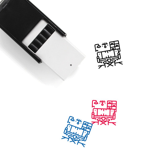Furnished Self-Inking Rubber Stamp No. 2