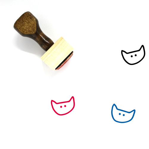 Cat Head Wooden Rubber Stamp No. 4