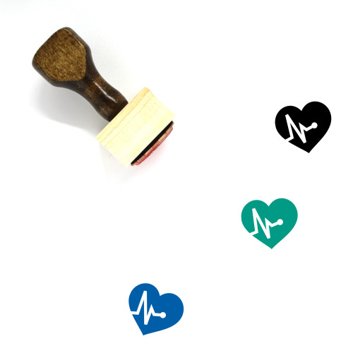 High Blood Pressure Wooden Rubber Stamp No. 1