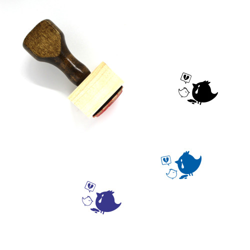 Bird Wooden Rubber Stamp No. 229