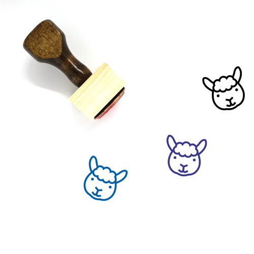Sheep Wooden Rubber Stamp No. 58