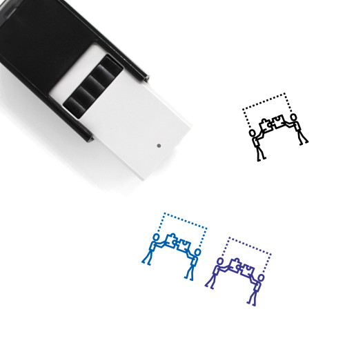 Puzzle Pieces Self-Inking Rubber Stamp No. 3