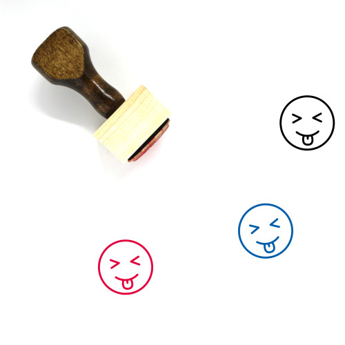Tongue Out Wooden Rubber Stamp No. 33