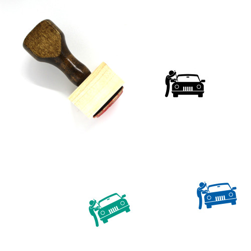 Stealing Car Wooden Rubber Stamp No. 1