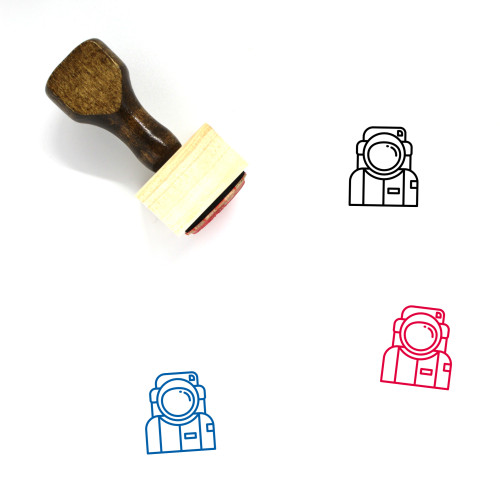 Astronaut Wooden Rubber Stamp No. 66