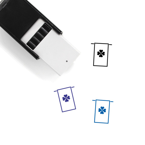 Clover Banner Self-Inking Rubber Stamp No. 20