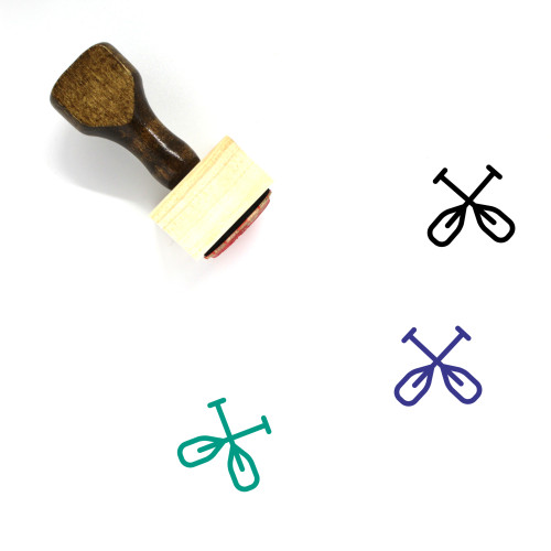 Paddles Wooden Rubber Stamp No. 23