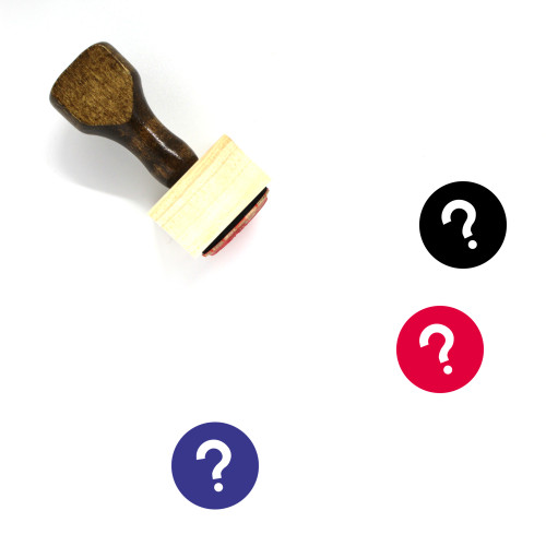 Question Mark Wooden Rubber Stamp No. 46