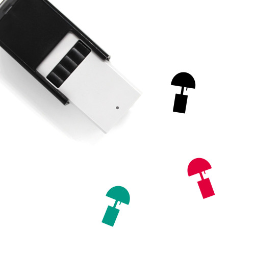 Square Lamp Self-Inking Rubber Stamp No. 2