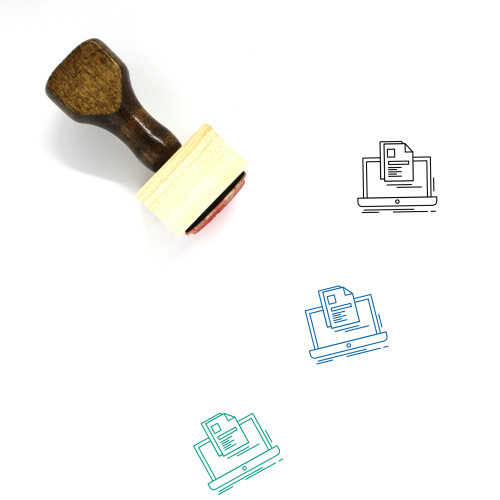 Laptop Account Wooden Rubber Stamp No. 2