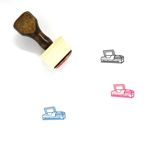 Coffin Wooden Rubber Stamp No. 21