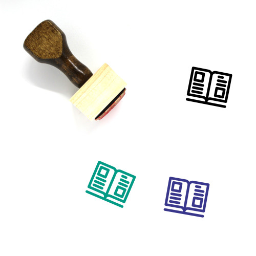 Book Wooden Rubber Stamp No. 712