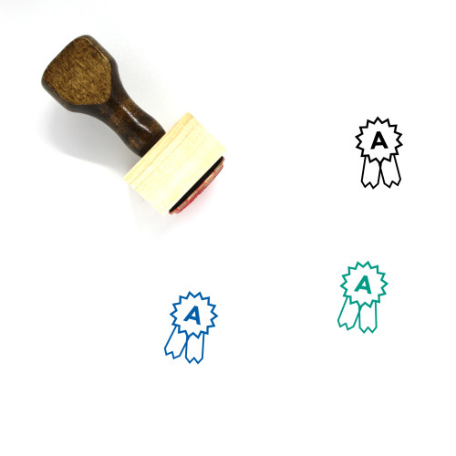 Ribbon Wooden Rubber Stamp No. 184