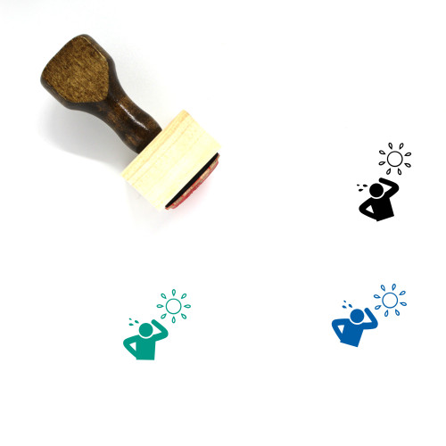 Hot Weather Wooden Rubber Stamp No. 10