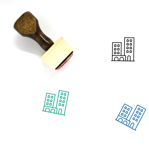 Town Wooden Rubber Stamp No. 122