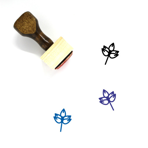 Spring Wooden Rubber Stamp No. 71