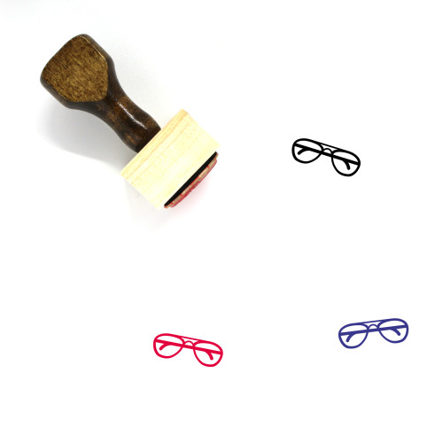 Glasses Wooden Rubber Stamp No. 268