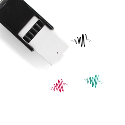 Sound Wave Self-Inking Rubber Stamp No. 40