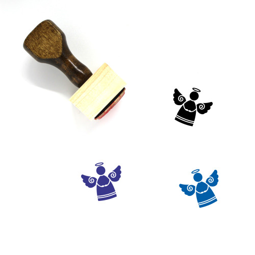 Angel Wooden Rubber Stamp No. 118