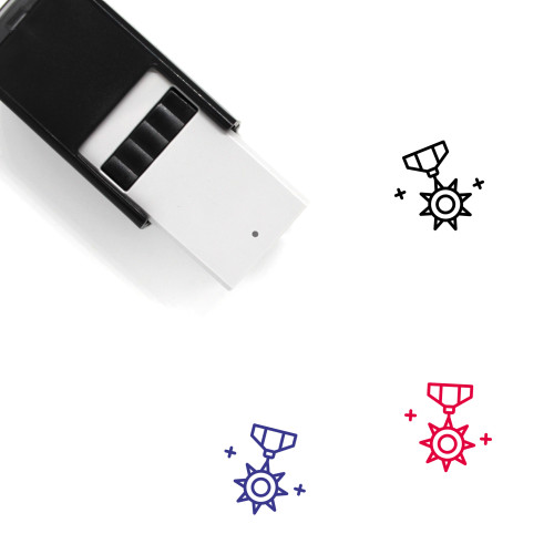 Star Badge Self-Inking Rubber Stamp No. 38