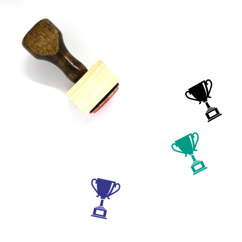 Trophy Wooden Rubber Stamp No. 431