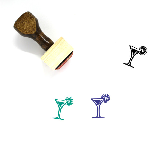 Cocktail Wooden Rubber Stamp No. 83