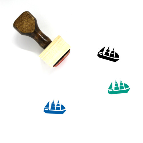 Yacht Wooden Rubber Stamp No. 44